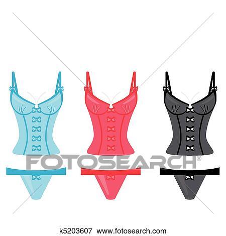 clip art of lingerie on white background k5203607 search clipart rh fotosearch com Wedding Shower Clip Art Feather Boa Clip Art
