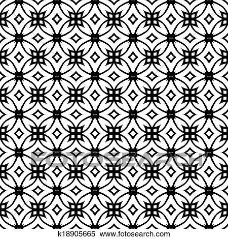 Clipart of Vector geometric art deco pattern k18905665 - Search Clip ...
