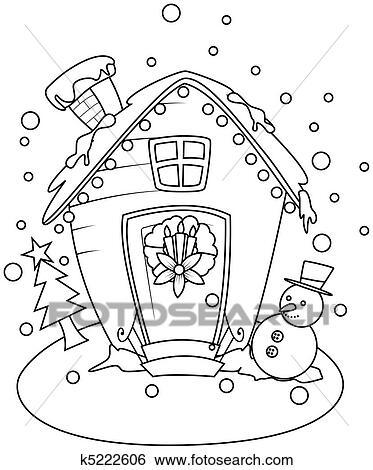 Haus strichzeichnung  Clipart - strichzeichnung, rest, haus k5222601 - Suche Clip Art ...