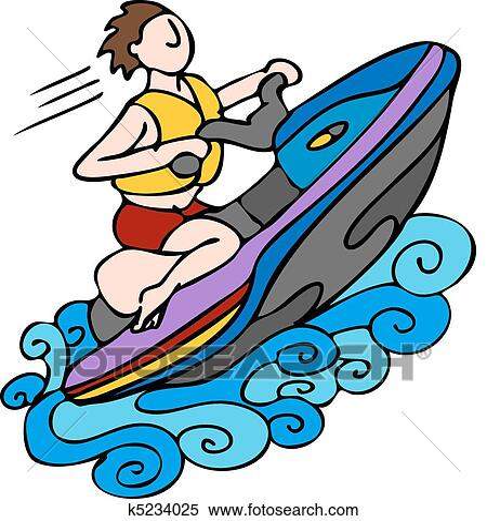 clipart of jet ski k5234025 search clip art illustration murals rh fotosearch com ski clip art free skin clipart