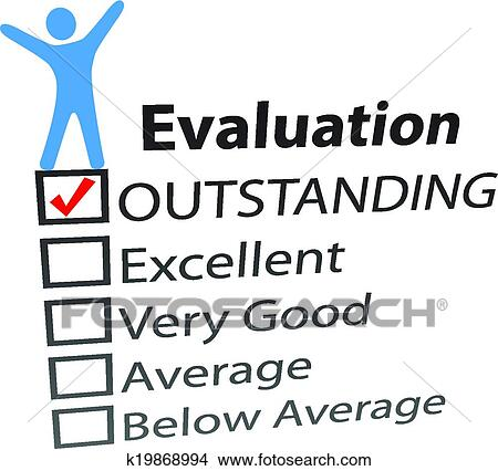 Clipart of Person celebrate excellent HR evaluation k19868994 ...