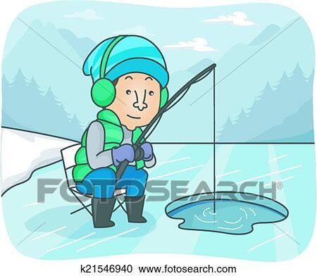 Ice Fisherman Clip Art