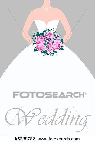 剪贴画 - 婚礼, 卡片