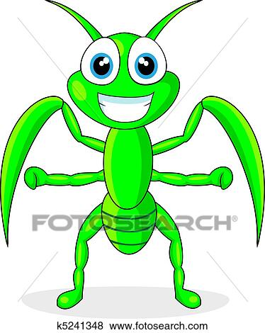 clip art of cute praying mantis k5241348 search clipart rh fotosearch com free praying mantis clipart cute praying mantis clipart