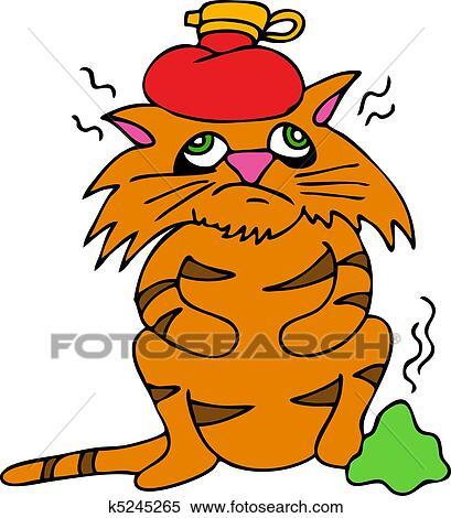 Clipart ammalato gatto k5245265 cerca clipart for Gatto clipart