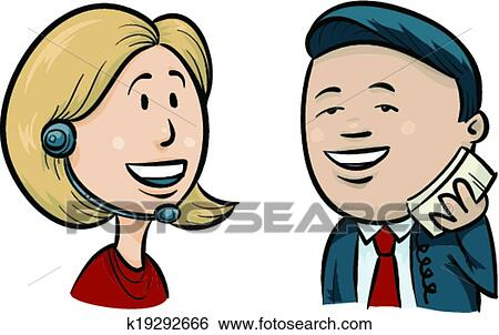 clip art of man and call operator k19292666 search clipart rh fotosearch com clipart call centre clipart call centre