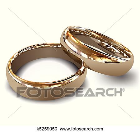Clipart of Gold wedding rings Vector k5259050 Search Clip Art