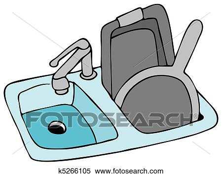 Clipart of Kitchen Sink k5266105 - Search Clip Art, Illustration ...
