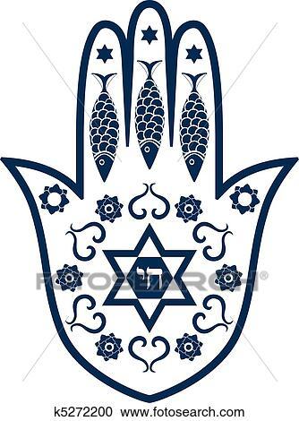 clipart of jewish sacred amulet hamsa or mir k5272200 search rh fotosearch com Corporation Clip Art Jewish Holiday Clip Art