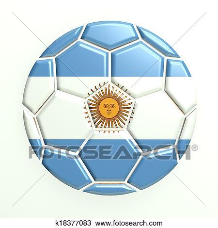 手绘图 - 阿根廷, 足球图片