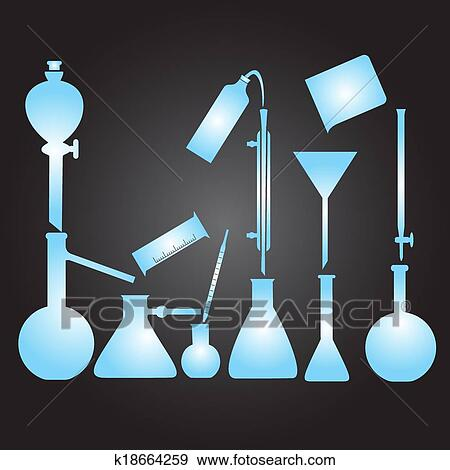Clip Art of chemistry laboratory glassware eps10 k18664259 ...