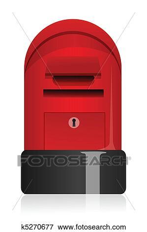 Clip Art of letter box k5270677 - Search Clipart ...