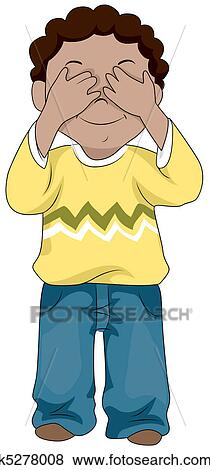 Little Kid Eye Cartoon