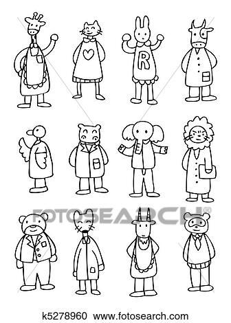 Clipart carino cartone animato dottore animale - Animale cartone animato immagini gratis ...
