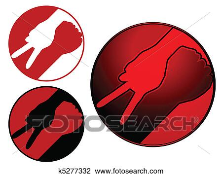 Clipart Of War And Peace Symbol K5277332 Search Clip Art