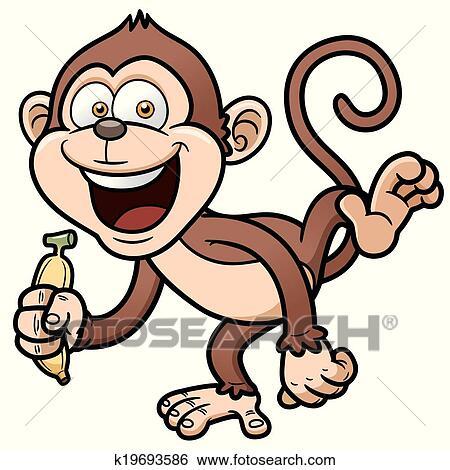 可爱猴子绘画图片