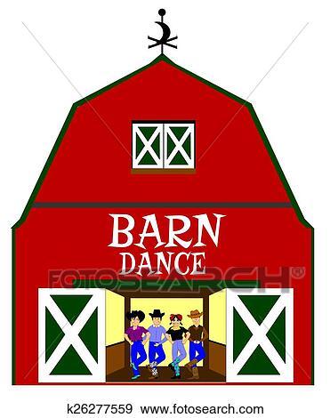 Stock Illustration of barn dance k26277559 - Search Vector ...