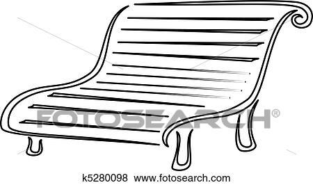 clip art of park bench contours k5280098 search clipart rh fotosearch com Park Trees Weiss Park Newark DE