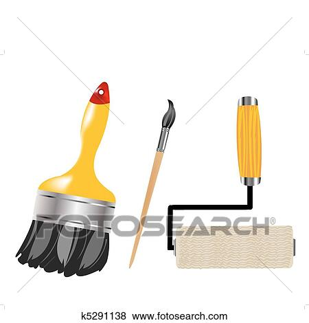 clipart outils pour peinture et dessin k5291138 recherchez des cliparts des. Black Bedroom Furniture Sets. Home Design Ideas