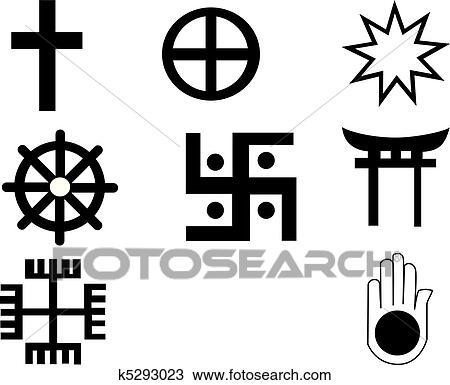 Clipart cinq diff rent am rindien et africaine symbole k5293023 recherchez des clip - Symbole amerindien tatouage ...