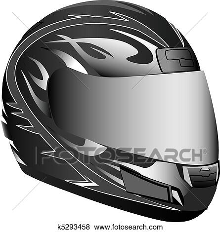 Clip Art of Motorcycle helmet k5293458 - Search Clipart ...