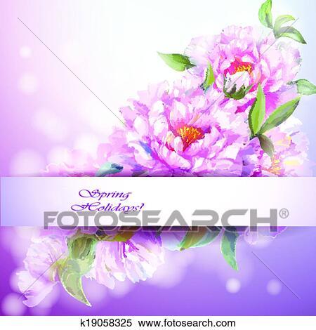 剪贴画 - 牡丹, 花, 背景.图片