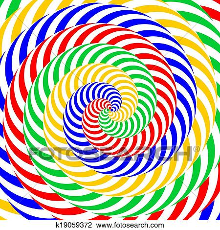 Clipart of Design colorful whirlpool circular movement illusion ...
