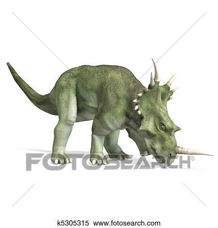 banque d 39 image dinosaure styracosaurus 3d rendre attachant voie acc s et ombre sur. Black Bedroom Furniture Sets. Home Design Ideas