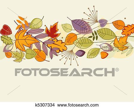剪贴画 - 秋季树叶, 背景图片