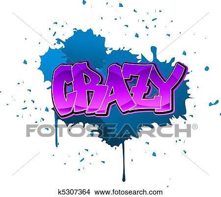 crazy graffiti vector - photo #6