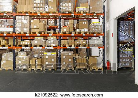 Stock Photo of Distribution center k21092522 - Search ...