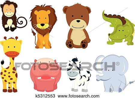 Wild animal Clipart Vector Graphics. 106,081 wild animal EPS clip ...