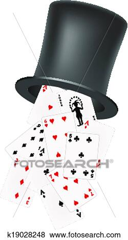 deck of cards falling