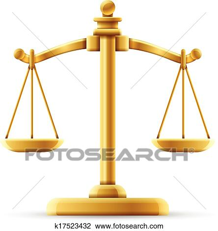 clipart of balanced justice scale k17523432 search clip art rh fotosearch com free clipart balance scale legal balance scale clip art