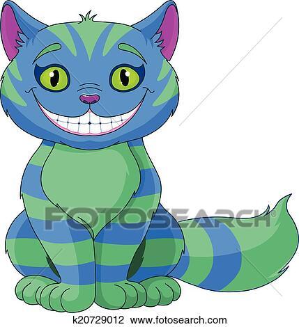 Clipart sorridente cheshire gatto k20729012 cerca for Gatto clipart