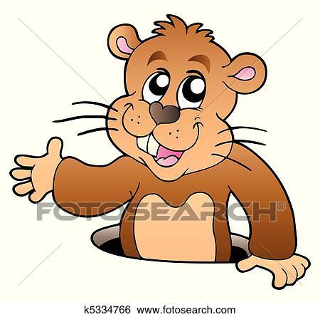 Clipart dessin anim marmotte am rique observer - Dessiner une marmotte ...
