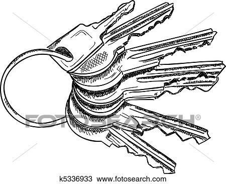 clipart of keys k5336933 search clip art illustration murals rh fotosearch com clipart images of keys clipart of car keys