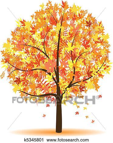 剪贴画 - 秋季, 树图片