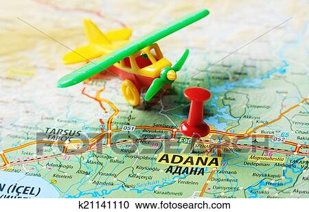 Stock Photography of Adana Turkey map airport k21141110 Search