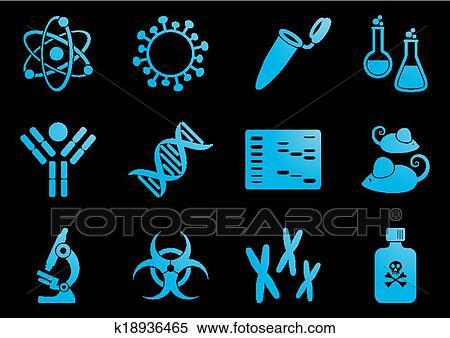剪贴画 - 生物学, 科学