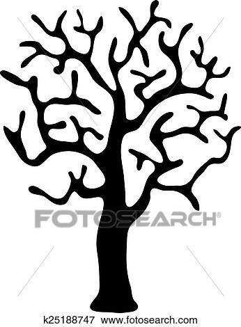 clipart noir arbre sans feuilles vecteur k25188747 recherchez des cliparts des. Black Bedroom Furniture Sets. Home Design Ideas