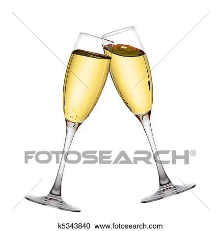 Stock fotografie zwei elegante sektgl ser k5343840 for Elegante wandbilder