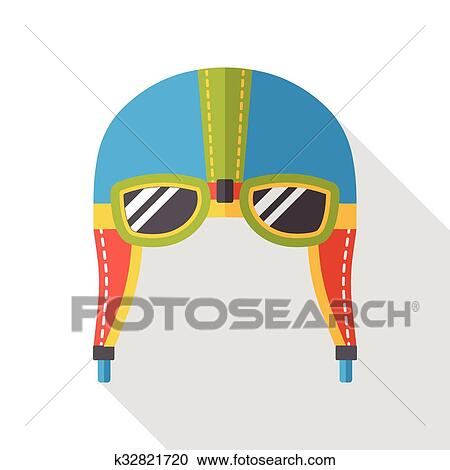 Clipart of aviation helmet flat icon k32821720 - Search Clip Art ...