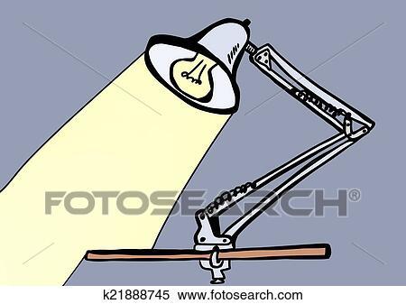 Tischlampe gezeichnet  Stock Illustration - hand, gezeichnet, tischlampe k21888745 ...
