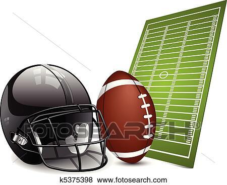 Clipart football am ricain l ments conception k5375398 - Dessin football americain ...