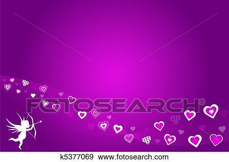 - 紫色, 心,
