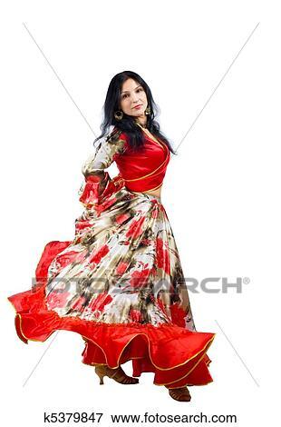 Bild reife frau tanz in zigeuner kostüm fotosearch suche