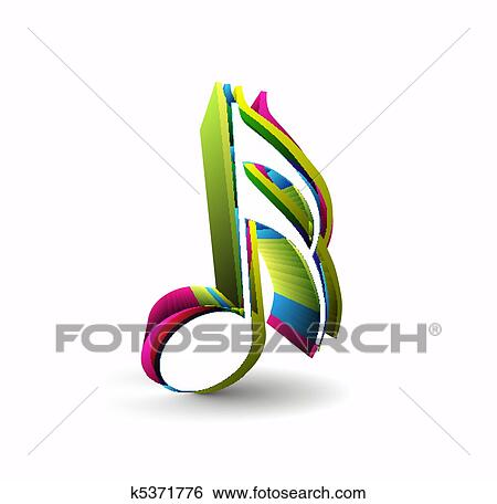 clip art of music notes k5371776 search clipart illustration rh fotosearch com Single Music Notes Music Notes