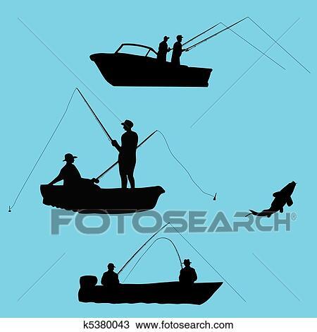 Fisherman Silhouette Clip Art