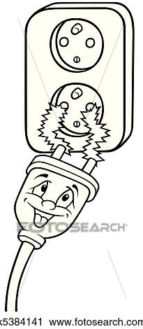 Clipart of Electric Outlet k5384141 - Search Clip Art ...